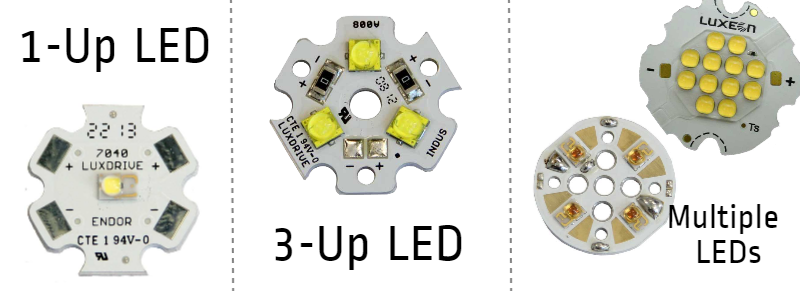 LED Star MCPCB configurations