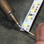 Tinning a soldering pad