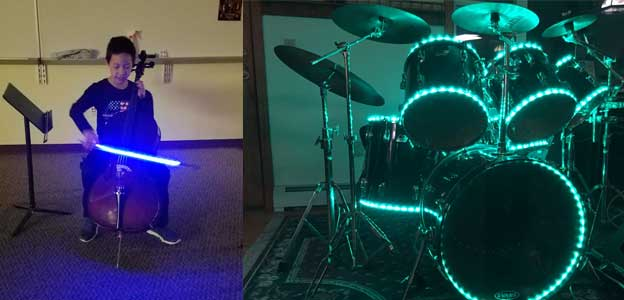 battery-operated led kit used in music applications