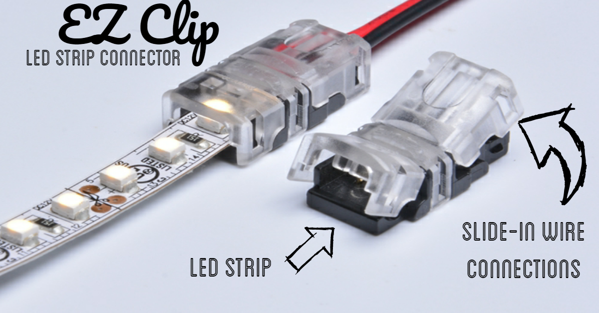"5 X 2 pin Connector /""T/"" shape Clip 10mm 5050 LED Strip single color Solderless"