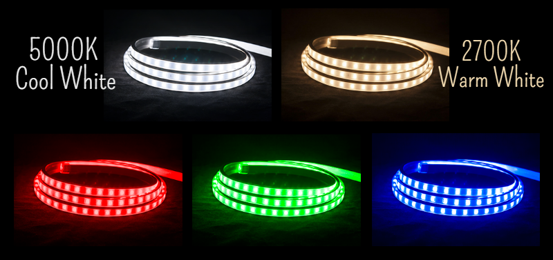 AC LED strip light colors