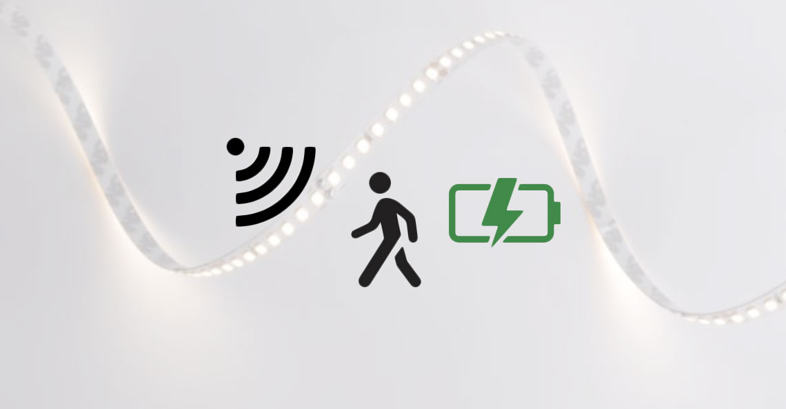 LED RGB Light Strip Stripe Set PIR Bed Light Motion Sensor Dimmer Remote Control