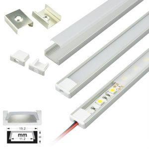 Installing led flex strips mounting techniques ledsupply blog aluminum channel for led flex strips mozeypictures Images
