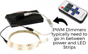 PWM dimmer in series with LED Strip Lights