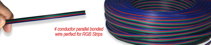 four conductor wire for RGB strips