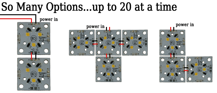 how to connect multiple leds together