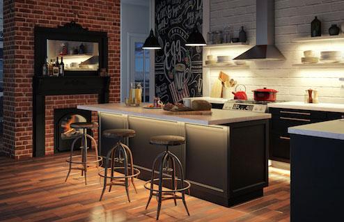 Warm White LED Strips in Kitchen