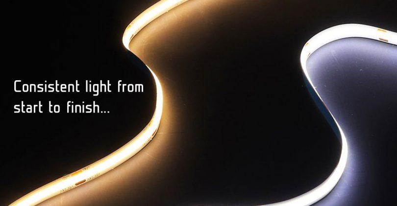 3W Cool//Warm White COB High Power LED Stripe Light Emitting Diode Chip 10-12V