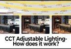Adjustable color temperature led lights