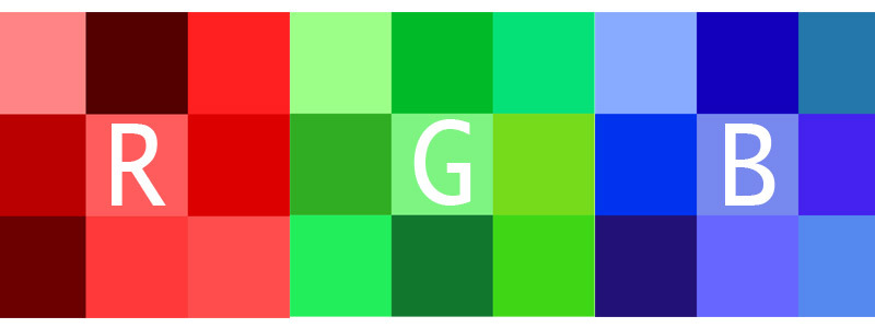 RGB 256 shades