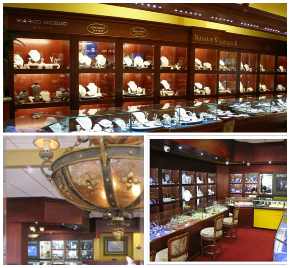 LED Lights in Jewelry Store