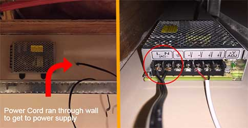 Power Cord to Power Supply
