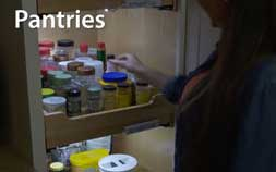 Pantry lit with battery operated flexible led light strip