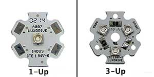 1-up led star versus 3-up led star