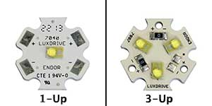 1-up led star optic versus 3-up led star optic