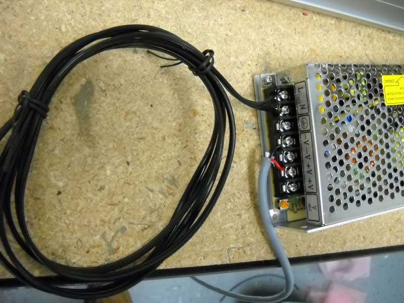 Connect 2 Conductor Wire to Power-Supply and Test