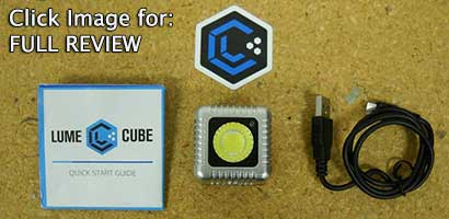 items in the LUME CUBE Box & FULL REVIEW