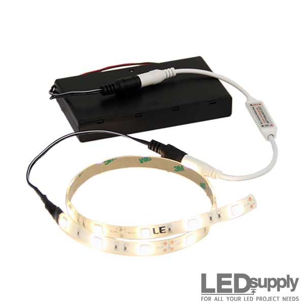 Battery operated led light strip battery operated flexible led light strip mozeypictures Image collections