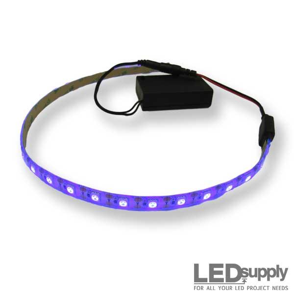 best service eb725 de622 Purple (UV) 3AA Battery Operated LED Strip Kit