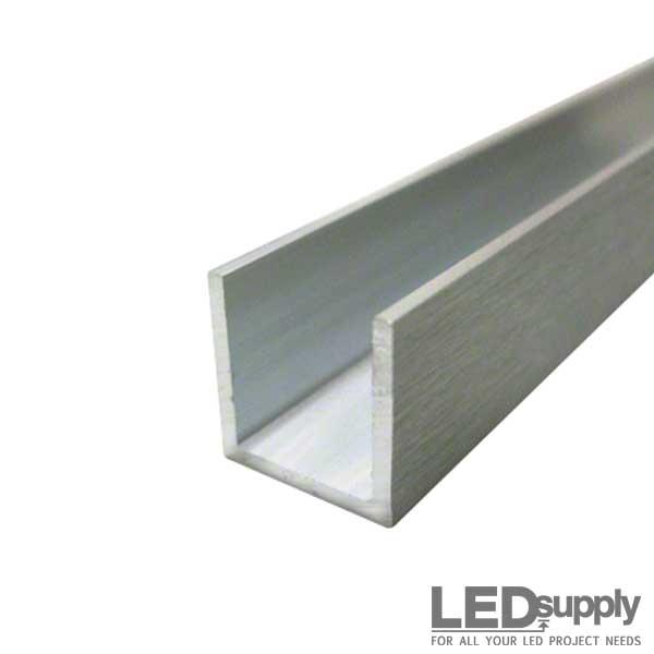 Aluminum U Channel - 1inch X 1inch