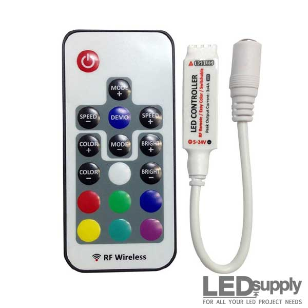new concept 9e3a4 7dd8c RGB Remote Control RF Dimmer for LED Strips