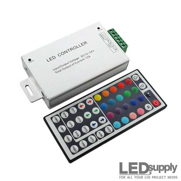 rgb controller remote for 12v led strips. Black Bedroom Furniture Sets. Home Design Ideas