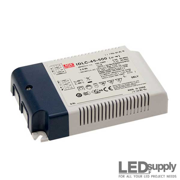 IDLC Series Mean Well 45W CC LED Driver with 2 in 1 dimming