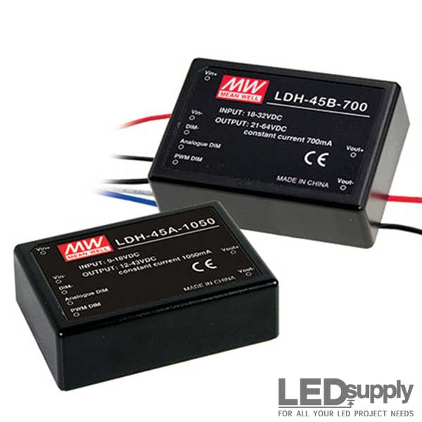 Ldh Series Mean Well Step Up Mode Cc Led Drivers