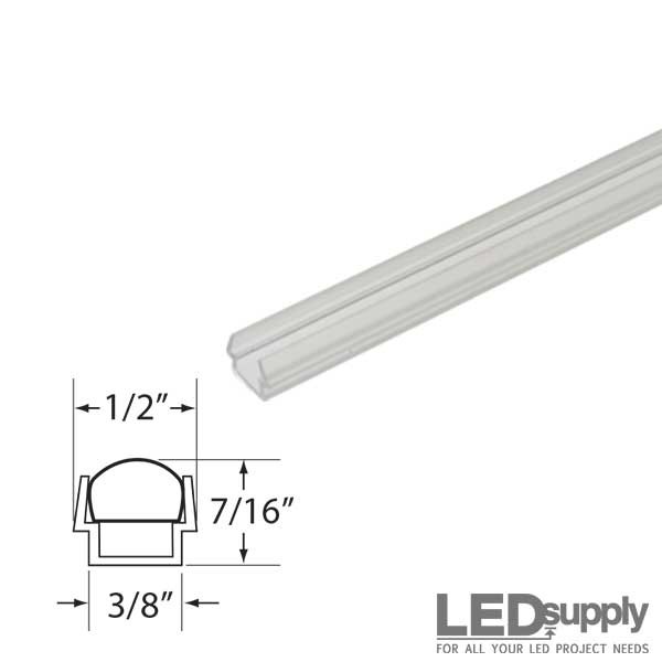 Led strip clear plastic mounting track clear plastic mounting track for ac led flex strips mozeypictures Image collections