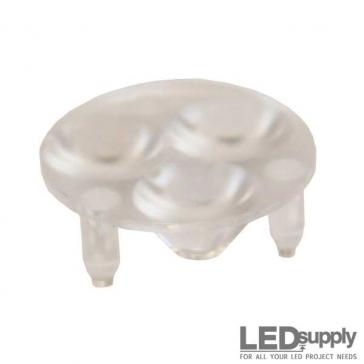 10511 Carclo Lens - 3-Up Frosted Narrow Spot LED Optic