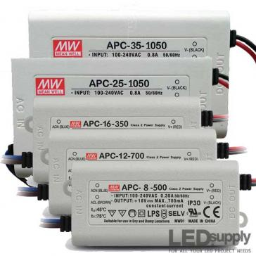 Mean Well APC Series 8~35W Constant Current LED Drivers