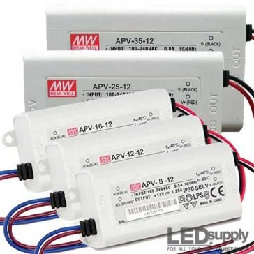 Mean Well APV Series 8~35W Constant Voltage LED Power Supply