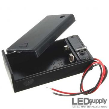 9V Battery Holder with Switch and Leads