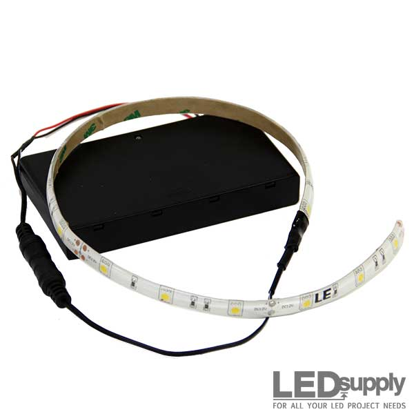 battery operated led light strip. Black Bedroom Furniture Sets. Home Design Ideas