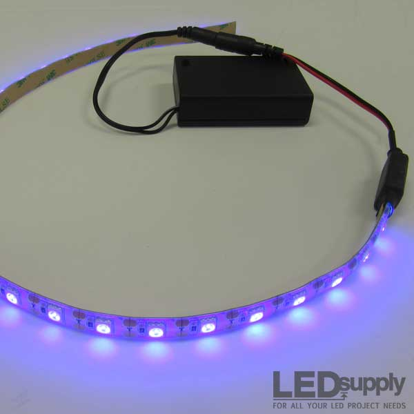 LED Strip Light Set With Optional PP3 Battery Box In 7 Colours /& 6 Lengths