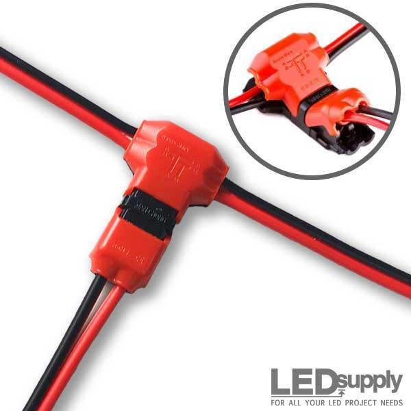 T Tap Wire Splice Connectors - Dual Channel