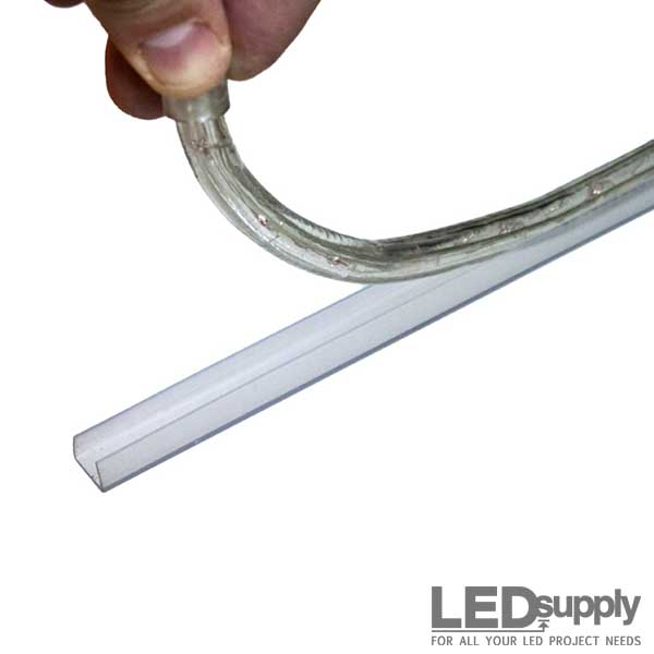 Led Rope Clear Plastic Mounting Track
