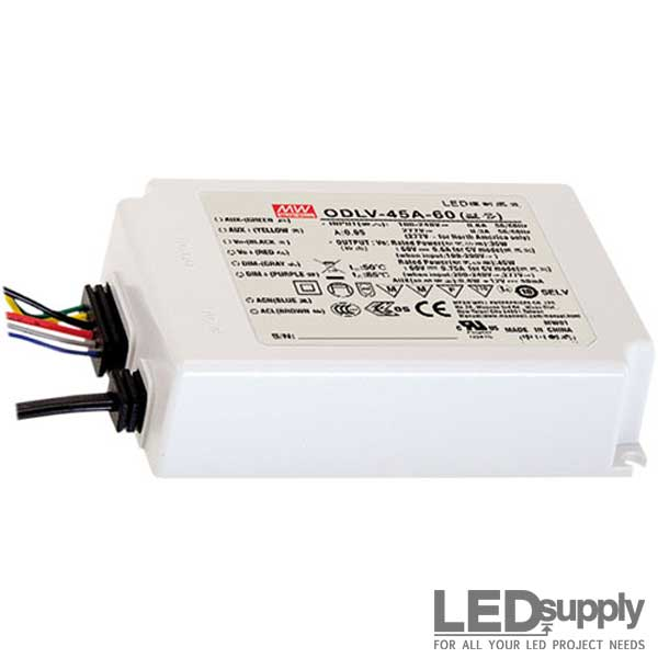 Mean Well ODLV Series 45 Watt CV Power Supply with PWM Output