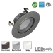 3-Inch LED Swivel Downlight Remodel Can & Brushed Steel Trim