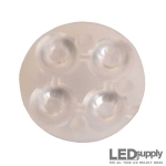 10623 Carclo Lens - Quad Frosted Medium Spot LED Optic