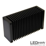 Black Extrusion LED Heatsink