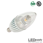 LED Candelabra Warm-White Dimmable Retrofit Lamp