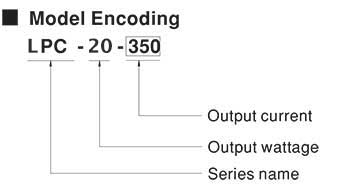 Mean Well LPC Model Number Encoding